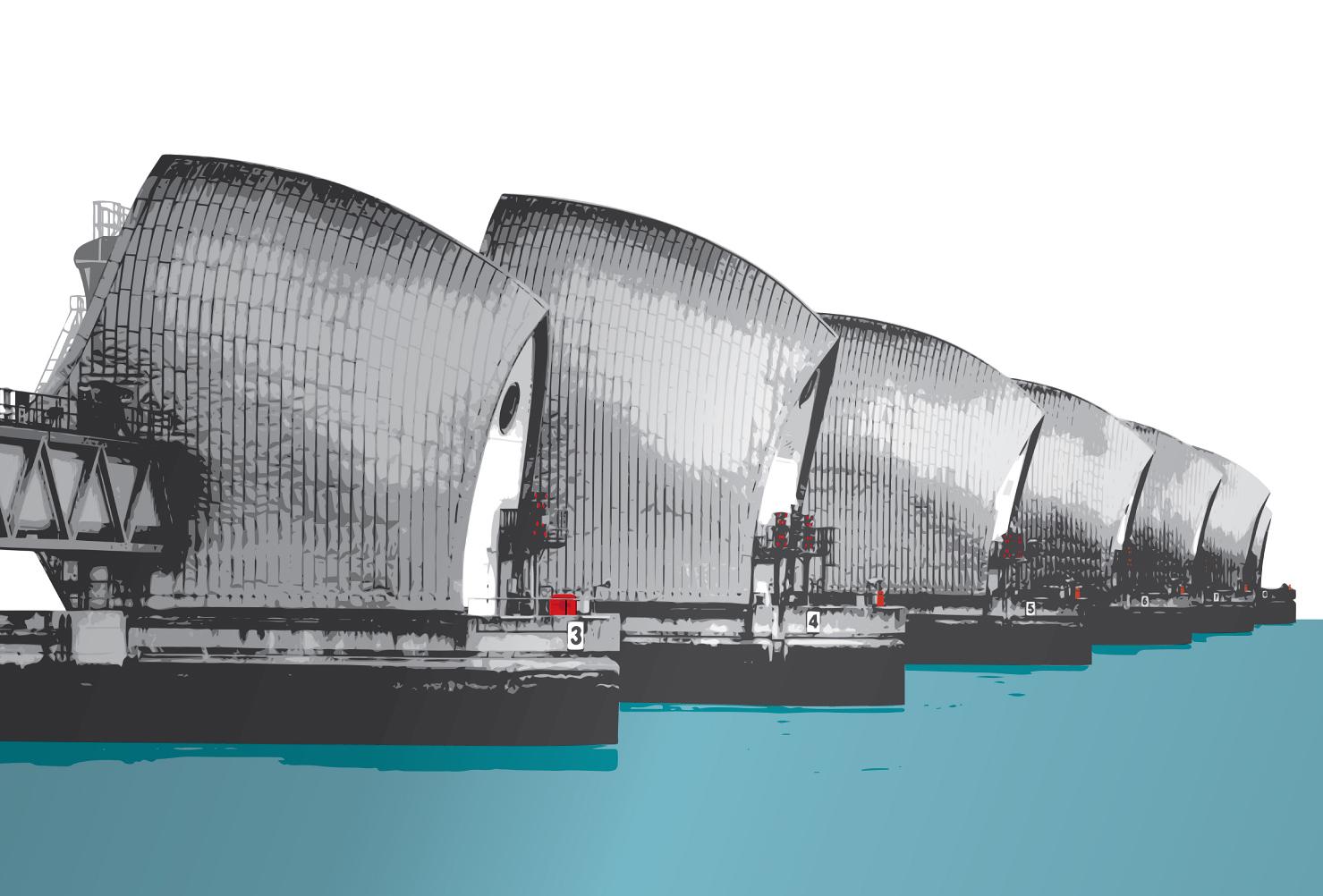Thames Barrier Acrylic