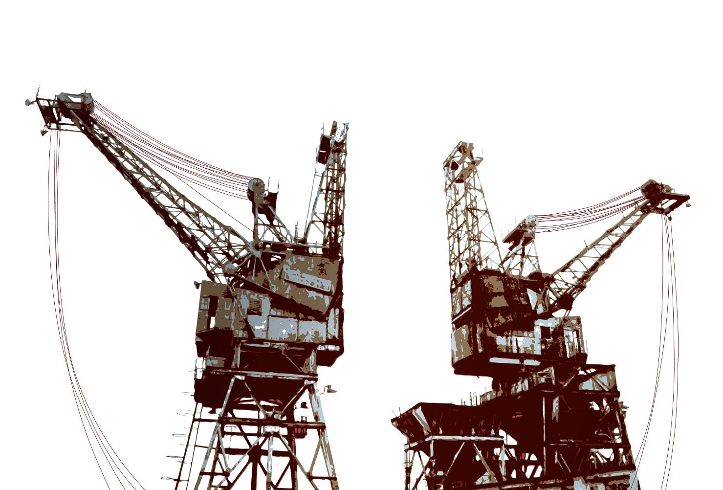 Battersea Power Station Cranes Acrylic