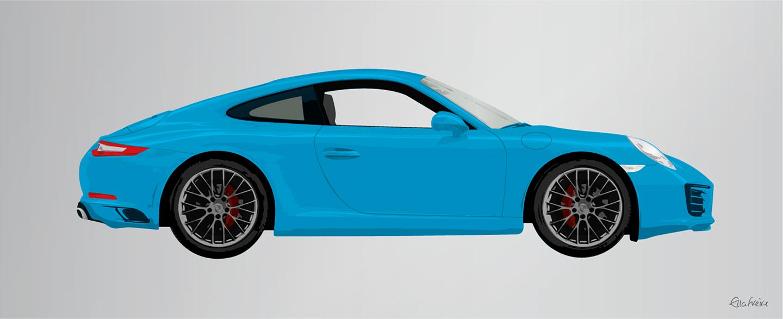Porsche 911 Miami Blue